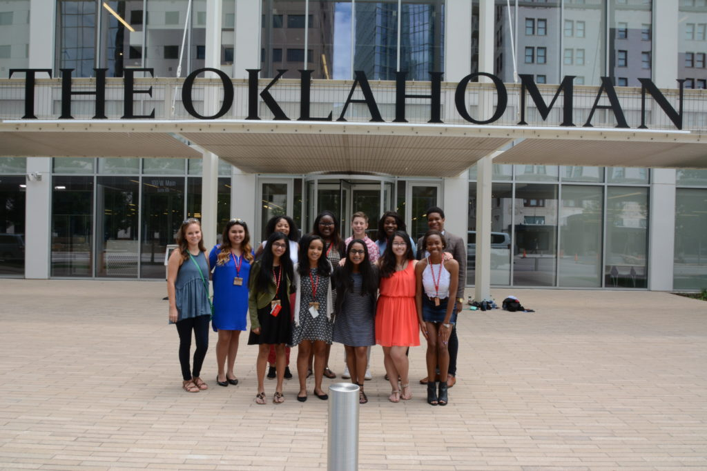 The OIDJ group visited multiple media outlets, including The Oklahoman. Photo by Mashiur Rahaman